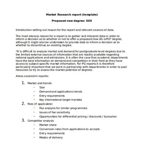 research report template marketing report template 20 free word pdf documents