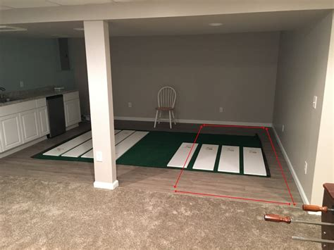 help me design a basement putting green golf talk the