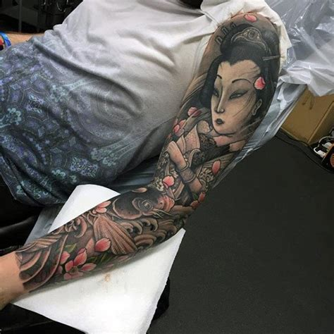 geisha tattoo male 120 japanese sleeve tattoos for men masculine design ideas