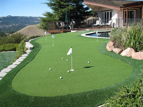 installing a putting green in your backyard sharpen your stroke with a backyard putting green from polygrass in the bay area