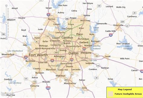 map of dallas texas and surrounding cities texas map