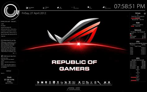 download theme windows 7 republic of gamers rog rmskin by rdwu on deviantart