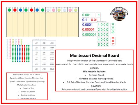 printable montessori hundred board making montessori ours education printables february 2014