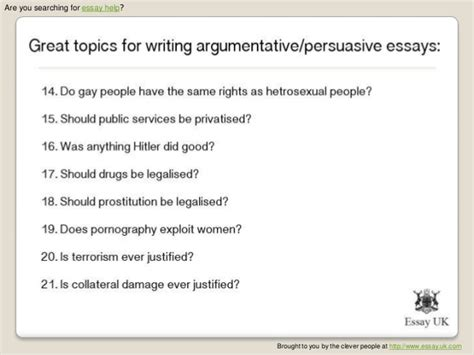 List Of Topic For Essay Writing by What Are Some Persuasive Essay Topics Durdgereport632 Web Fc2