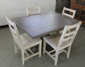 Wooden Dining Table With White Chairs Dining Room Excellent Image Of Dining Room Decoration Using Distressed Wood Dining Chairs