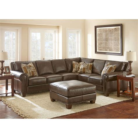 soft brown leather sectional sofa soft leather sectional
