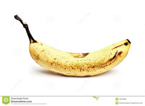 over ripe banana on white background stock photo image 10640386