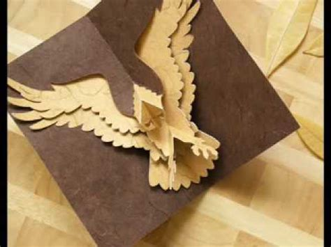 cool pop up cards to make how to make a kirigami eagle pop up card cool stuff