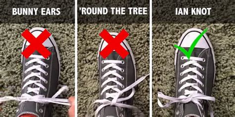 tutorial ikat tali sepatu video cara cepat ikat tali sepatu