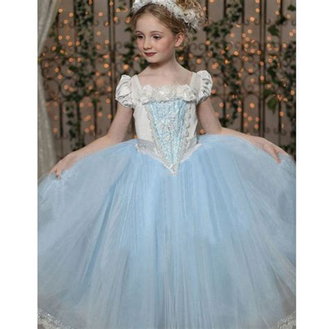 Fr Dress Giovany Kid Dress Anak 2 7years cinderella dress baby wedding sheer dresses costume clothes