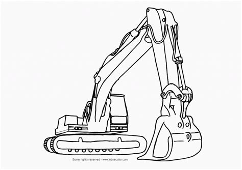 excavator coloring page printable construction equipment color page printable coloring