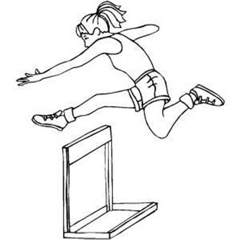 hurdles coloring page
