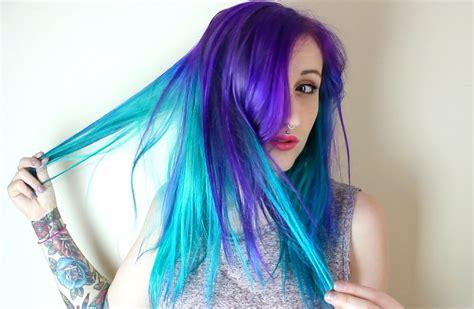 aquamarine hair color aquamarine and purple hair color www imgkid the