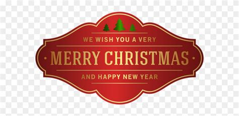 merry christmas  happy  year   transparent png clipart images