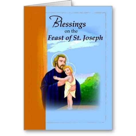 christian sts for card 3820 blessings st joseph feast blue cards religious