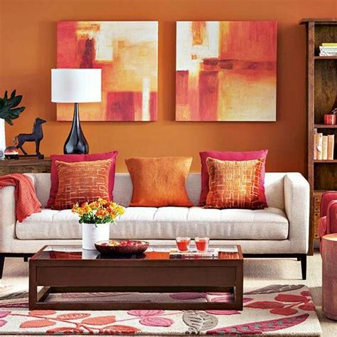 orange livingroom orange living room ideas