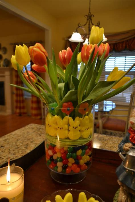 Easter Arrangements by Easter Centerpiece Place Tulips In Vase Put Inside Larger