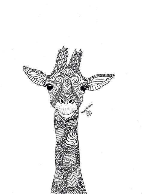 zentangle giraffe coloring pages 111 best images about giraffes on pinterest coloring