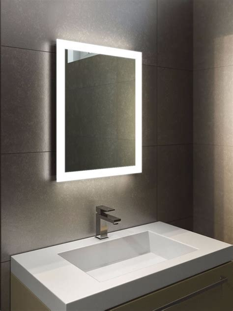 Halo Tall Led Light Bathroom Mirror Led Illuminated Bathroom Lighting And Mirrors Design