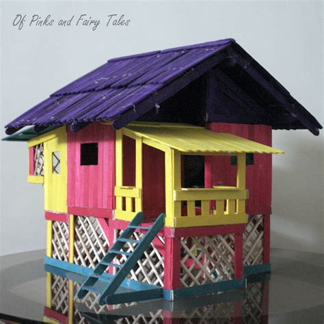 popsicle stick house of pinks and fairy tales doll house project traditional