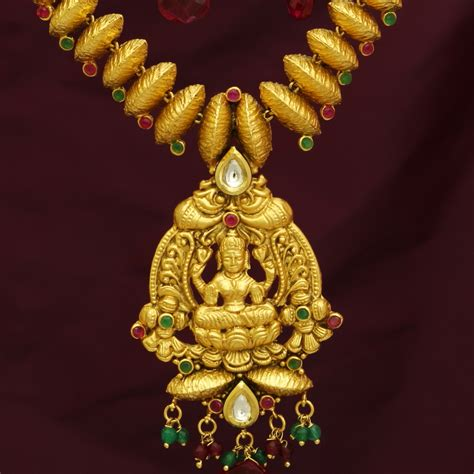 Handmade Gold Jewellery - temple jewellery handmade gold antique imitation jewellery
