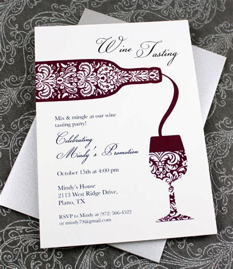 Wine Tasting Invitation Template Download Print Wine Invitation Template Free
