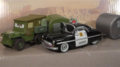 Cars Fillmore Road Trip Rd Tr1p Mattel Disney Pixar Diecast 1 55 road trip sarge sheriff with trailer new 2017 cars mattel disney pixar diecast unboxing review