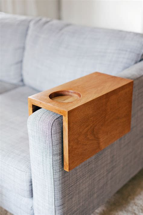 couch armrest table diy couch arm table my modern maison