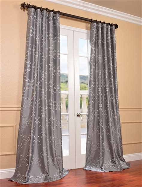 silver faux silk curtains shop discount curtains drapes blackout curtains more