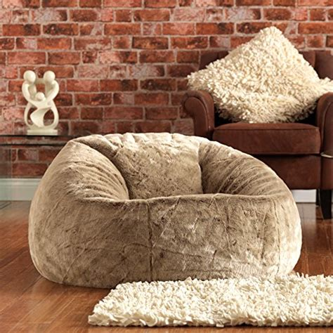 Beanbag Chairs Neo Jumbo Syntetic Fure bean bag bazaar icon xl panelled faux fur bean bag chair large bean bags large