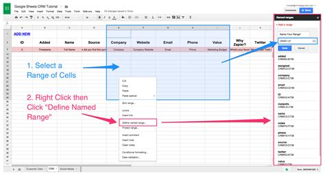 Sheets Crm Template