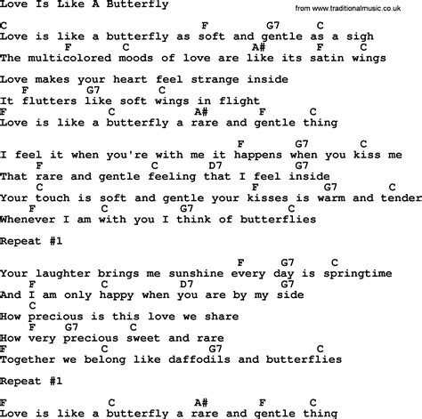 and butterfly lyrics dolly parton song is like a butterfly lyrics and chords