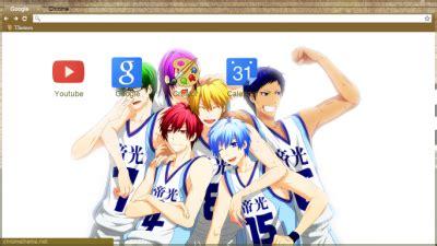 chrome themes kuroko no basket kuroko no basuke chrome themes themebeta