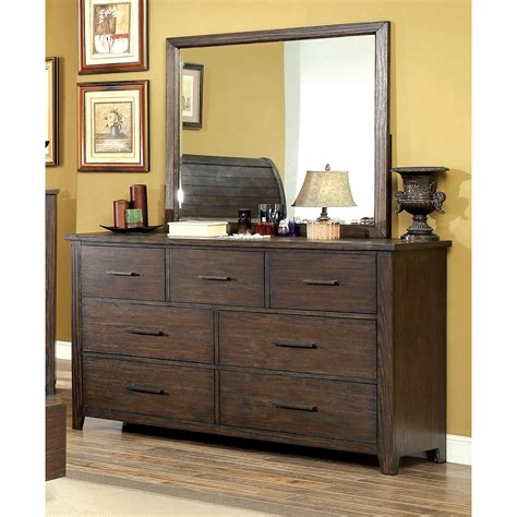 mirror finish bedroom furniture furniture of america greyce espresso finish 7 drawer