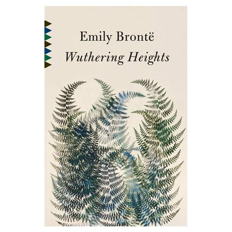 Cover Book Motif wuthering heights book cover with lovely fern motif in