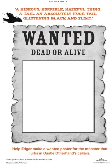 raven mysteries wanted poster scholastic kids club