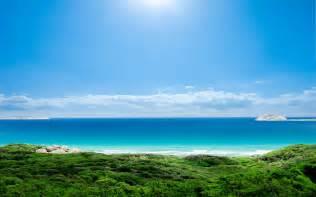 sea sun sky landscape hd wallpaper