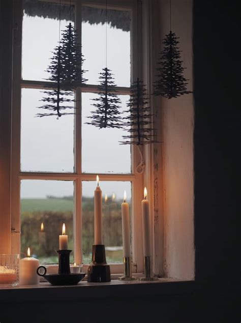 christmas window decorations ideas scandinavian style