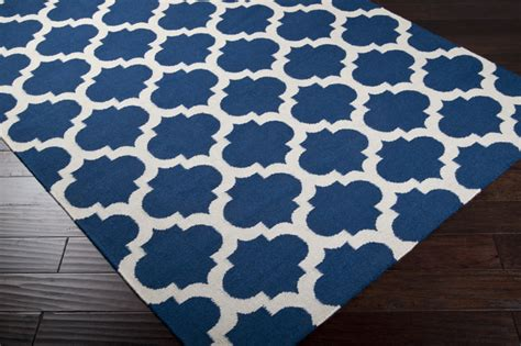 And Blue Rug by Mediterranean Blue And White Trellis Frontier Rug By Surya