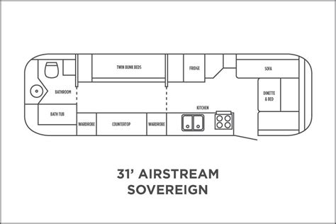 airstream floor plans 31 sovereign floor plan airstream pinterest airstream