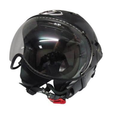 Kyt Elsico Solid Black jual helm kyt elsico retro terbaru harga murah blibli