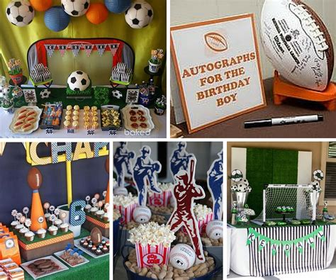sports themed desk accessories sports birthday party decoration ideas image inspiration
