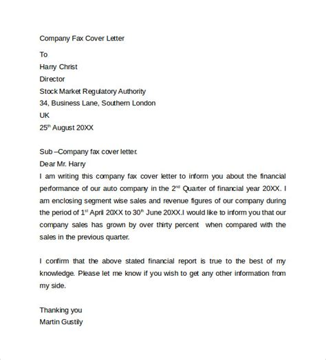 how to do a fax cover letter fax cover letter 9 free sles exles format