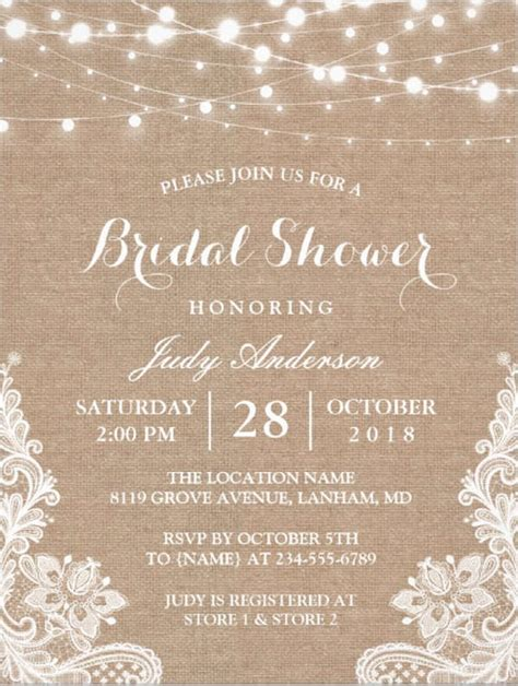 bridal shower free 26 free bridal shower invitations psd eps free premium templates