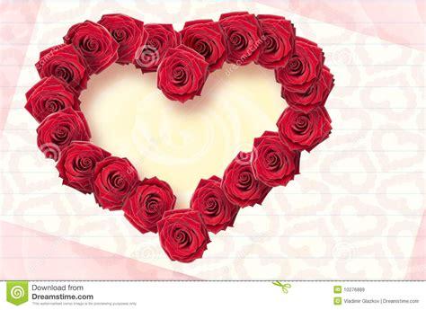 imagenes flores en forma de corazon tarjeta con las flores de rosas