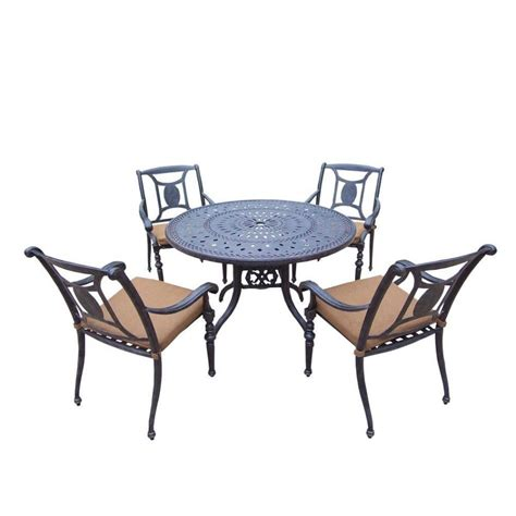 Furniture Pc Outdoor Dining Set Hanover Kerrington Piece Patio Table 6 Chairs