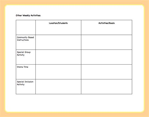 activity planner template search results for blank daily lesson plans calendar 2015