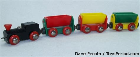 Three Small Trains Wood Toys vintage brio collecting history ask tech