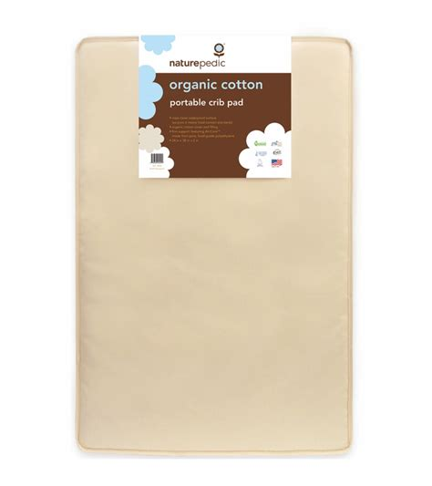 naturepedic organic cotton mini crib mattress 24x38x2