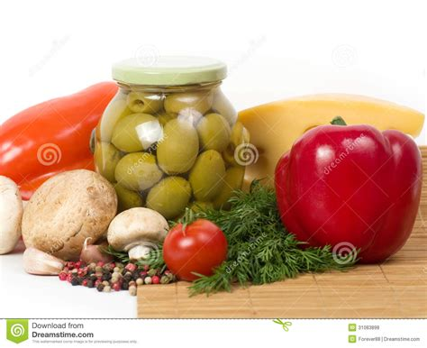 are olives vegetables olives with fresh vegetable royalty free stock photos